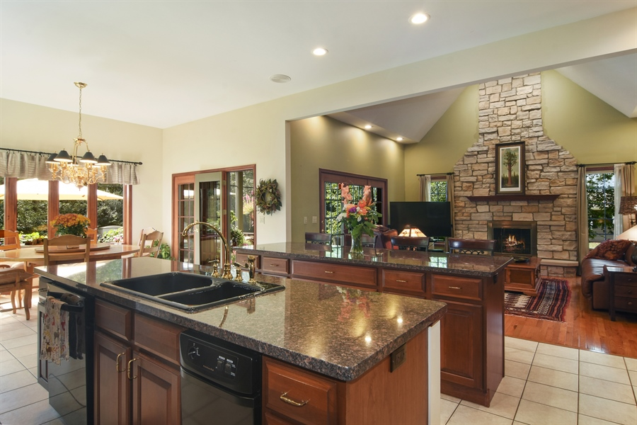 Real Estate Photography - 26541 Pond Shore, Wauconda, IL, 60084 - Family Room / Kitchen
