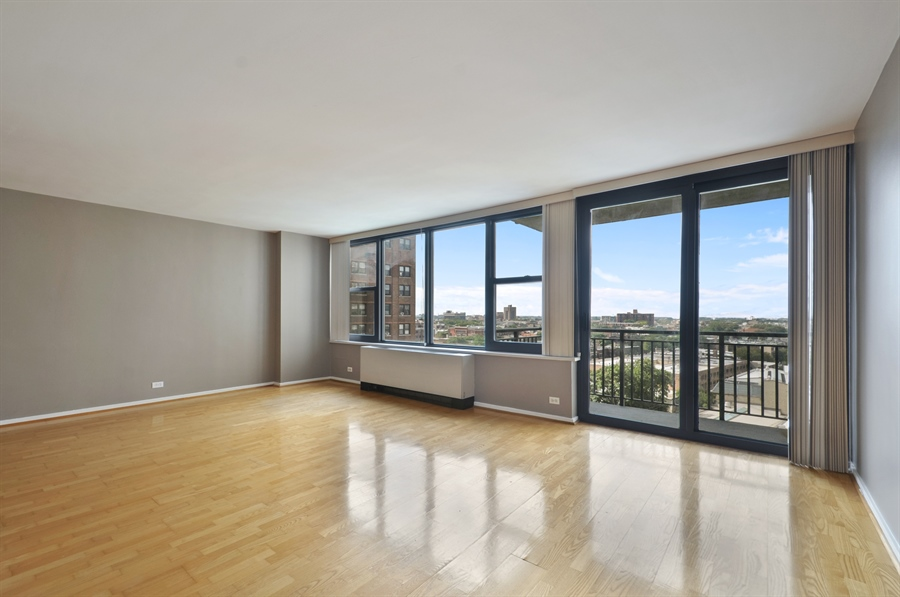 Real Estate Photography - 3430 Lake Shore Dr., 12M, Chicago, IL, 60657 - Living Room / Dining Room