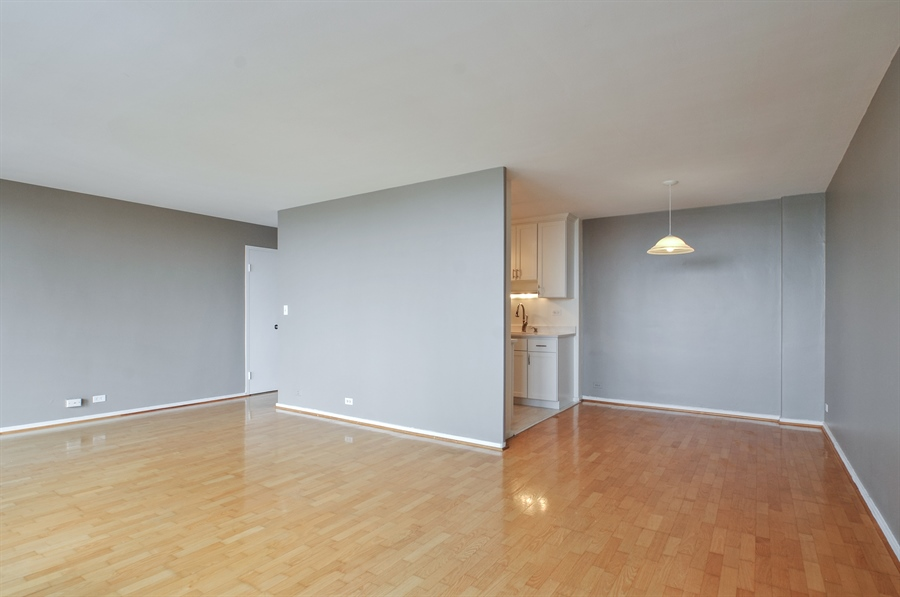 Real Estate Photography - 3430 Lake Shore Dr., 12M, Chicago, IL, 60657 - Living Room/Dining Room