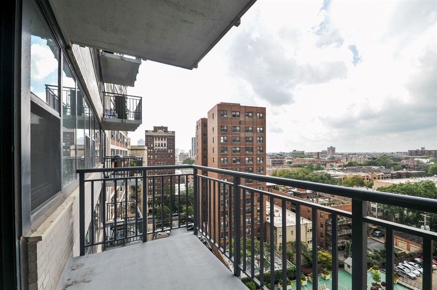 Real Estate Photography - 3430 Lake Shore Dr., 12M, Chicago, IL, 60657 - Balcony