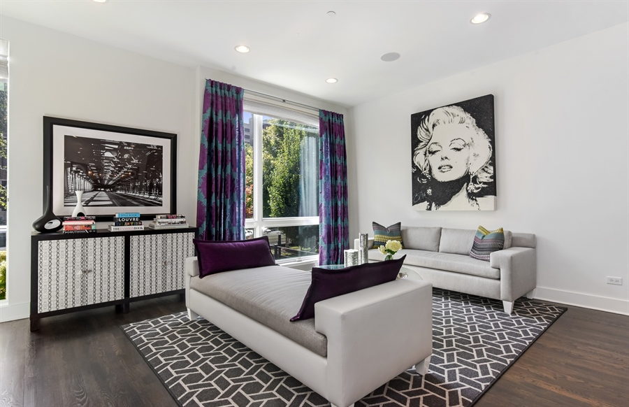 Real Estate Photography - 1534 W Montana, Chicago, IL, 60614 - Living Room