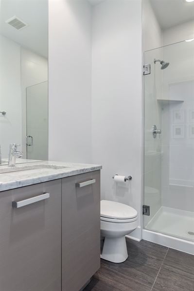 Real Estate Photography - 1534 W Montana, Chicago, IL, 60614 - 4th Bathroom