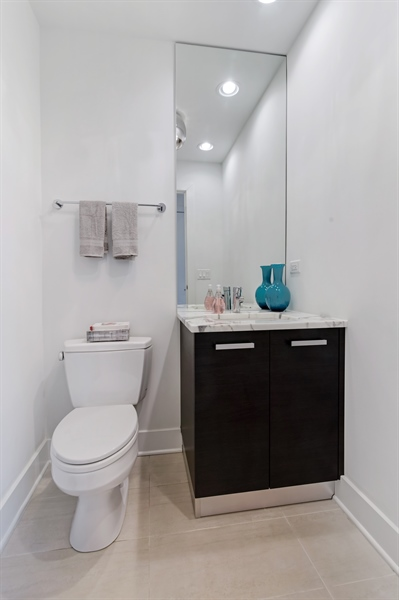 Real Estate Photography - 1534 W Montana, Chicago, IL, 60614 - Half Bath