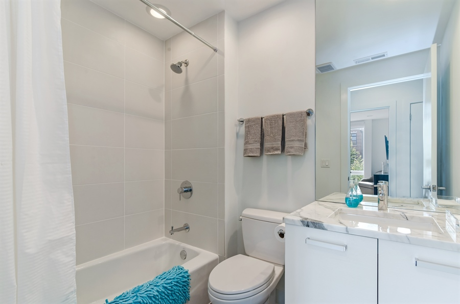 Real Estate Photography - 1534 W Montana, Chicago, IL, 60614 - 2nd Bathroom