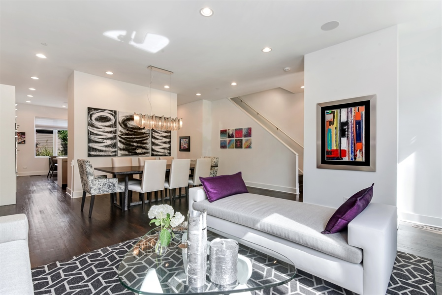 Real Estate Photography - 1534 W Montana, Chicago, IL, 60614 - Living Room / Dining Room