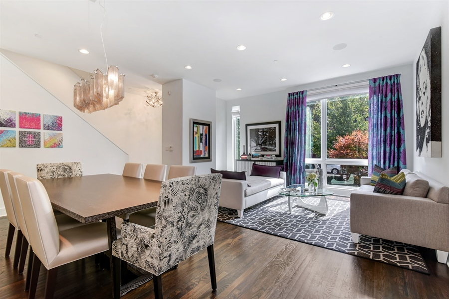 Real Estate Photography - 1534 W Montana, Chicago, IL, 60614 - Living Room/Dining Room