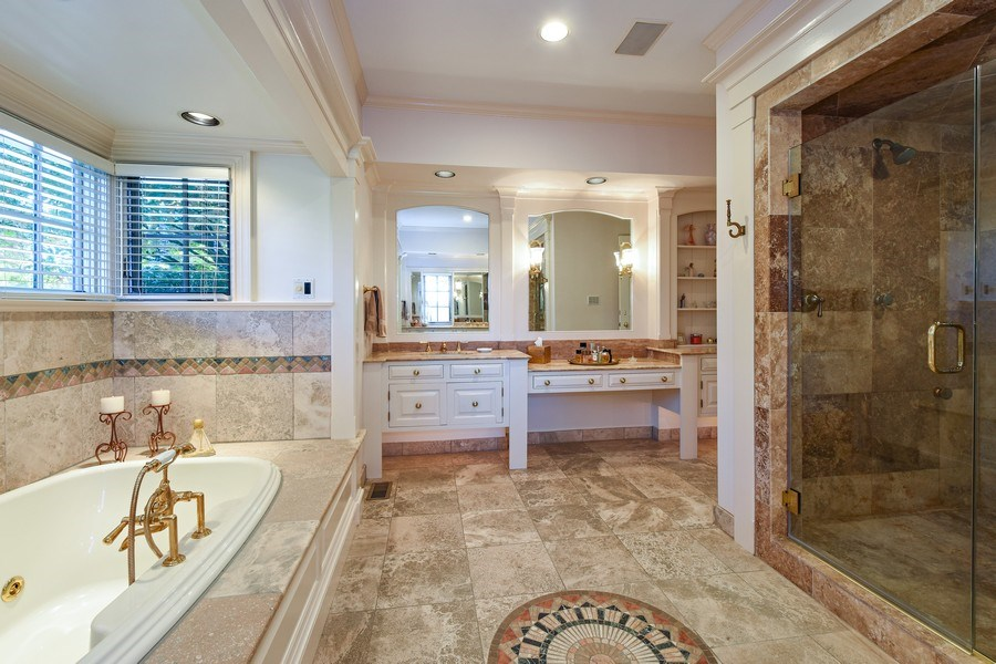 Real Estate Photography - 21923 N Old Barrington Rd, North Barrington, IL, 60010 - Master Bathroom