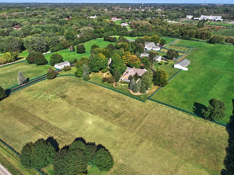 Real Estate Photography - 21923 N Old Barrington Rd, North Barrington, IL, 60010 - Aerial View