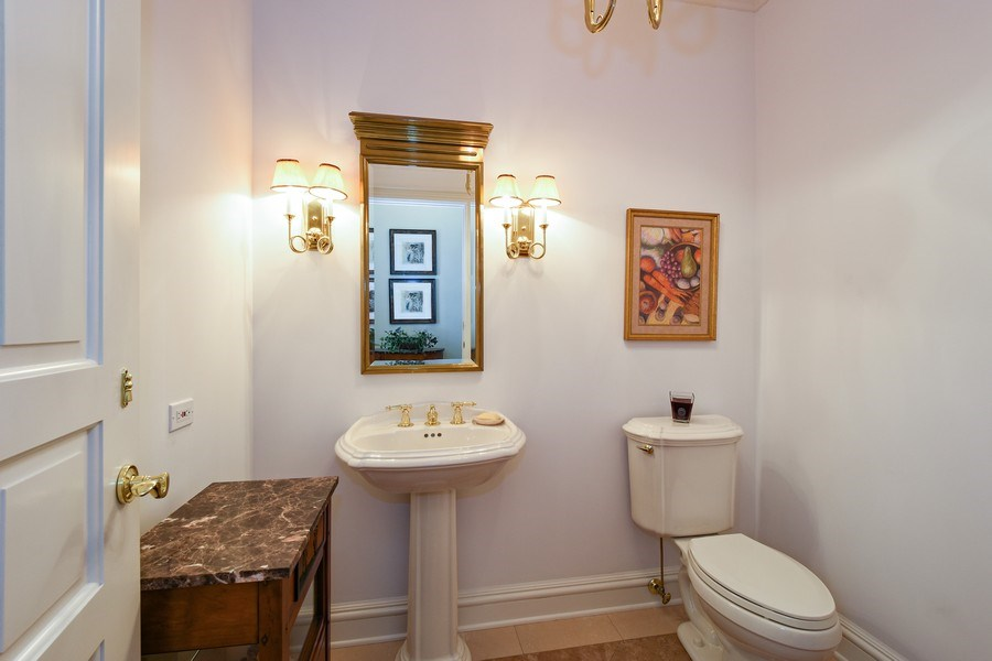 Real Estate Photography - 21923 N Old Barrington Rd, North Barrington, IL, 60010 - Powder Room