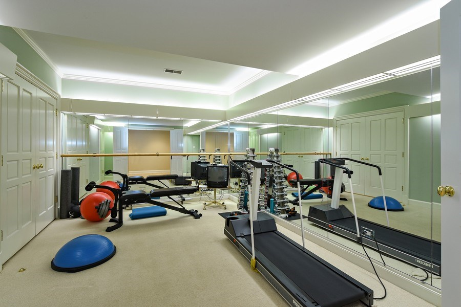 Real Estate Photography - 21923 N Old Barrington Rd, North Barrington, IL, 60010 - Fitness Room