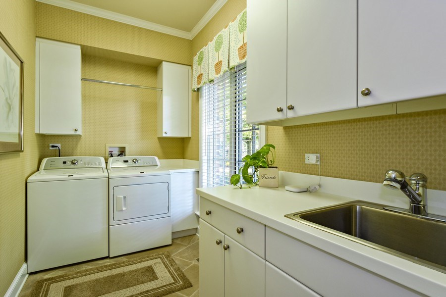Real Estate Photography - 21923 N Old Barrington Rd, North Barrington, IL, 60010 - Laundry Room