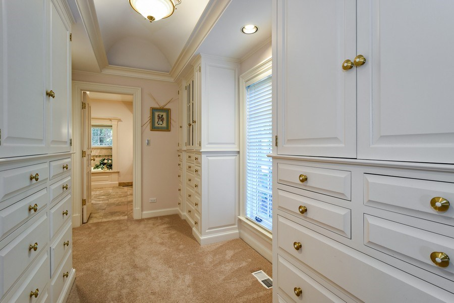 Real Estate Photography - 21923 N Old Barrington Rd, North Barrington, IL, 60010 - Master Bedroom Closet