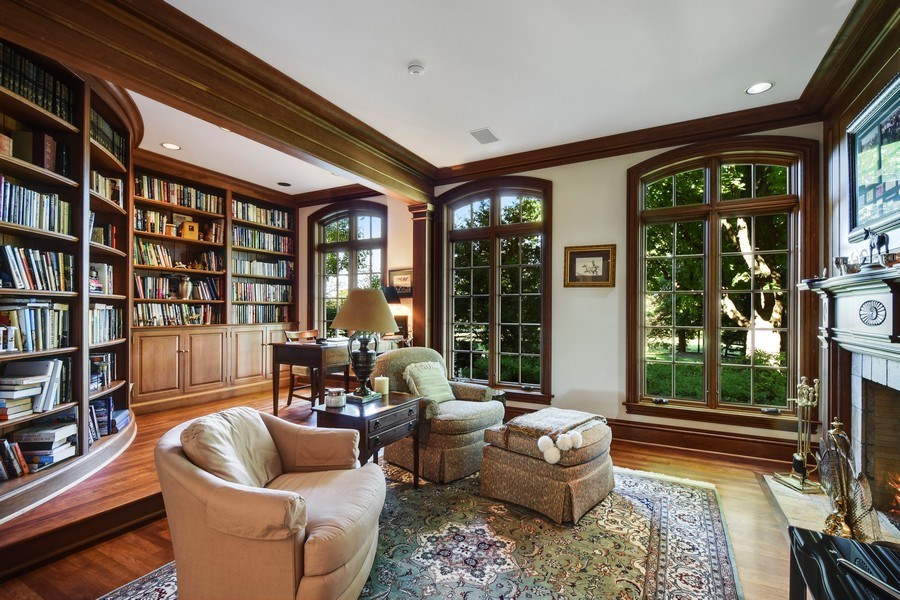 Real Estate Photography - 21923 N Old Barrington Rd, North Barrington, IL, 60010 - Library