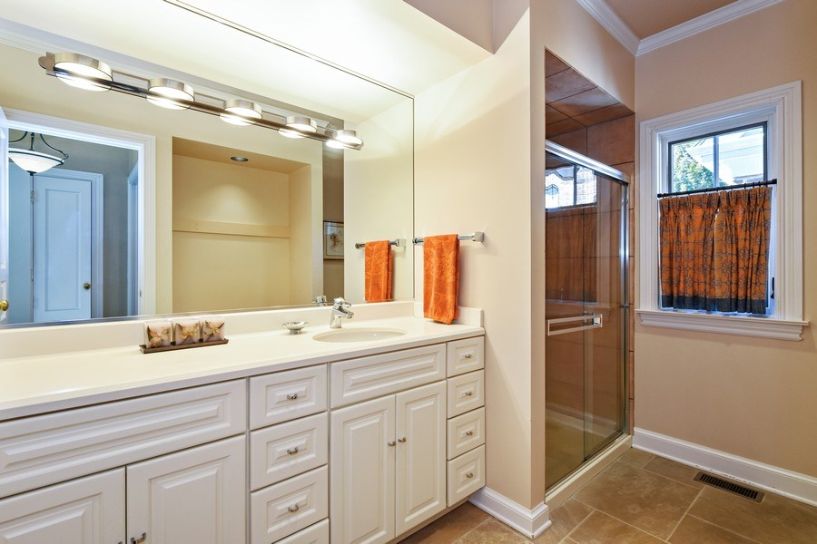 Real Estate Photography - 21923 N Old Barrington Rd, North Barrington, IL, 60010 - 2nd Bathroom
