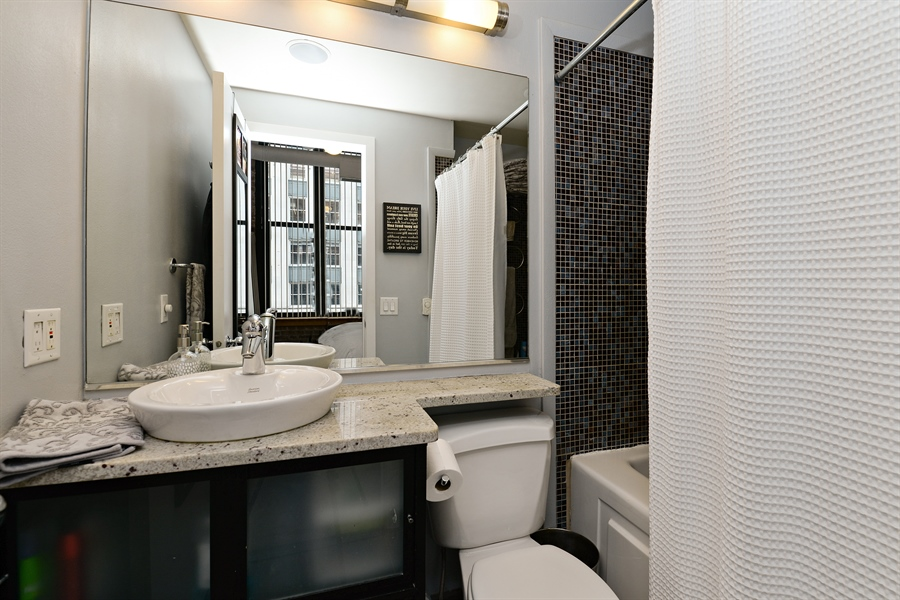 Real Estate Photography - 333 W Hubbard, 618, Chicago, IL, 60654 - Master Bathroom