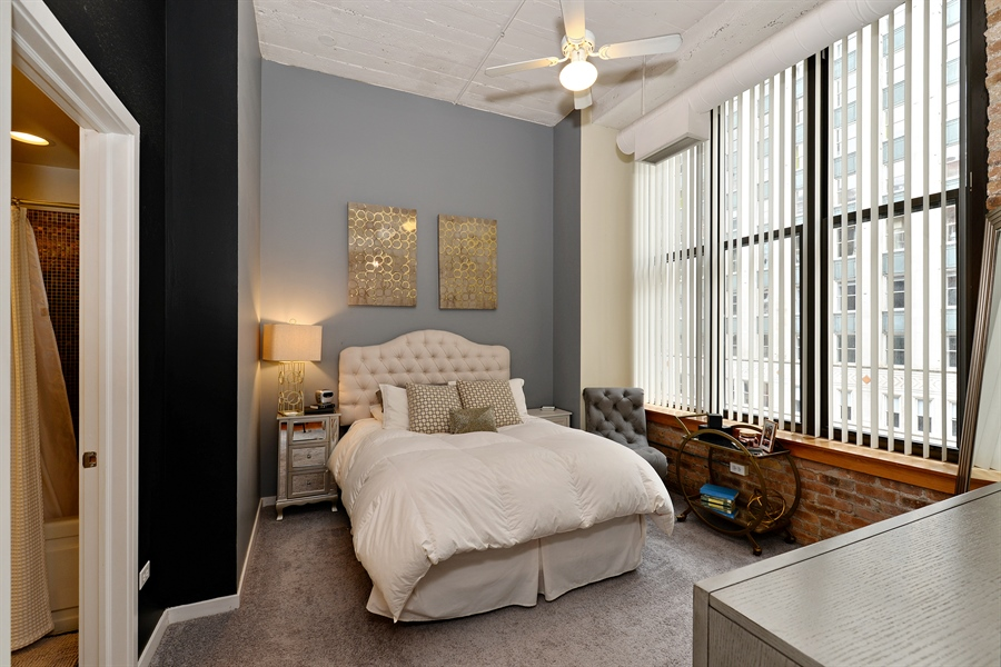 Real Estate Photography - 333 W Hubbard, 618, Chicago, IL, 60654 - Master Bedroom