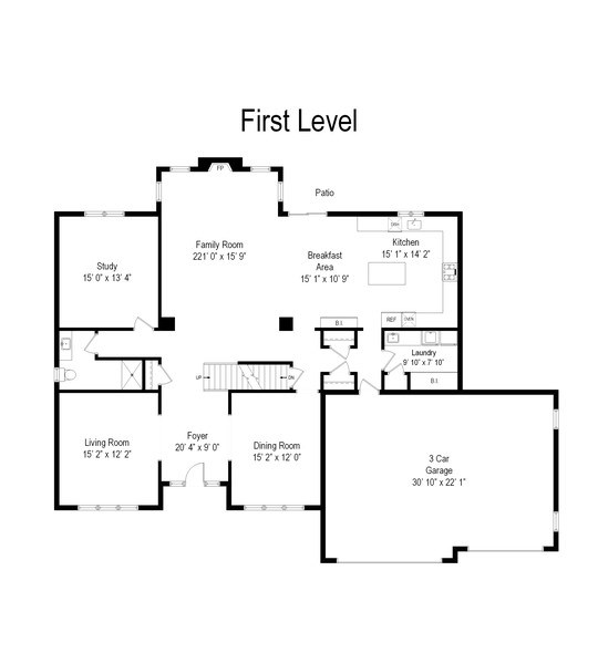 Real Estate Photography - 253 Mark Lane, Lake Zurich, IL, 60047 - Floor Plan
