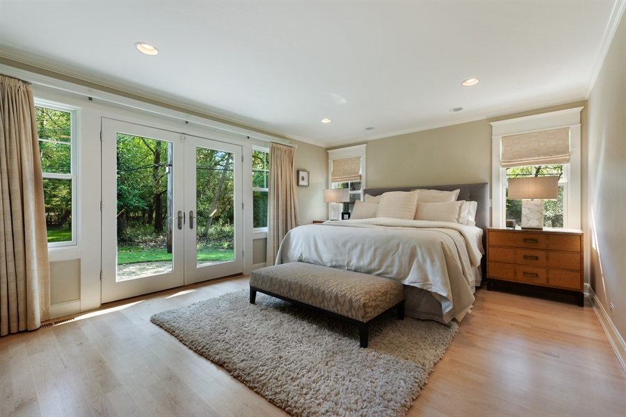 Real Estate Photography - 710 Elder Ct., Glencoe, IL, 60022 - Master Bedroom