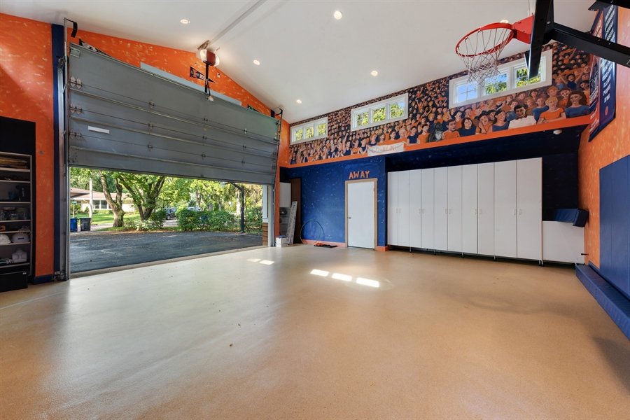 Real Estate Photography - 710 Elder Ct., Glencoe, IL, 60022 - Heated Garage w/Sport Court