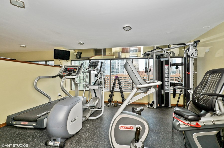 Real Estate Photography - 230 E Ontario St, 1603, Chicago, IL, 60611 - Fitness Center
