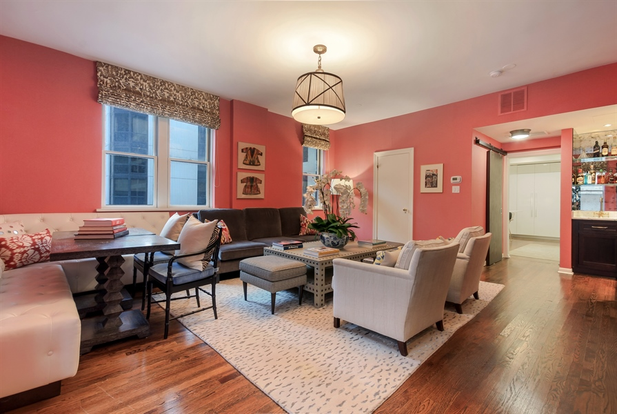 Real Estate Photography - 232 E Walton, 6E, Chicago, IL, 60611 - Family Room