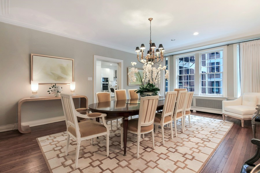 Real Estate Photography - 232 E Walton, 6E, Chicago, IL, 60611 - Dining Area