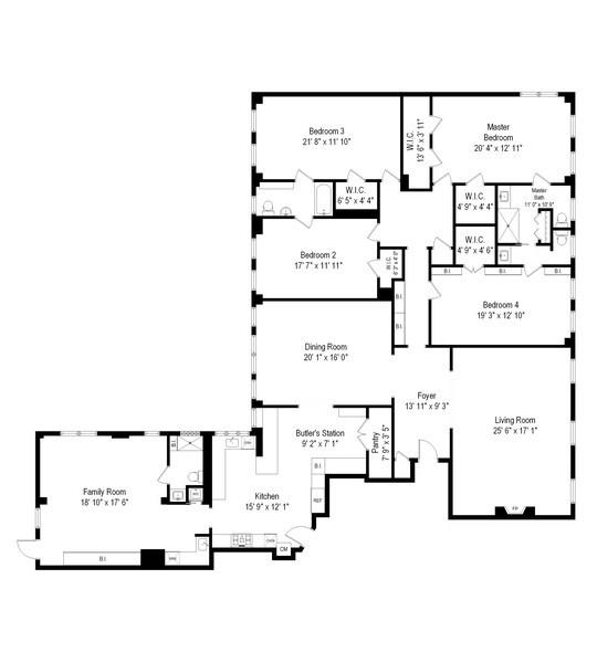 Real Estate Photography - 232 E Walton, 6E, Chicago, IL, 60611 - Floor Plan