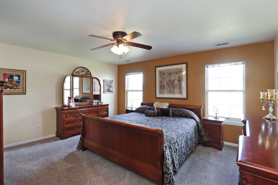Real Estate Photography - 6868 W MOUNT VERNON, GURNEE, IL, 60031 - Master Bedroom