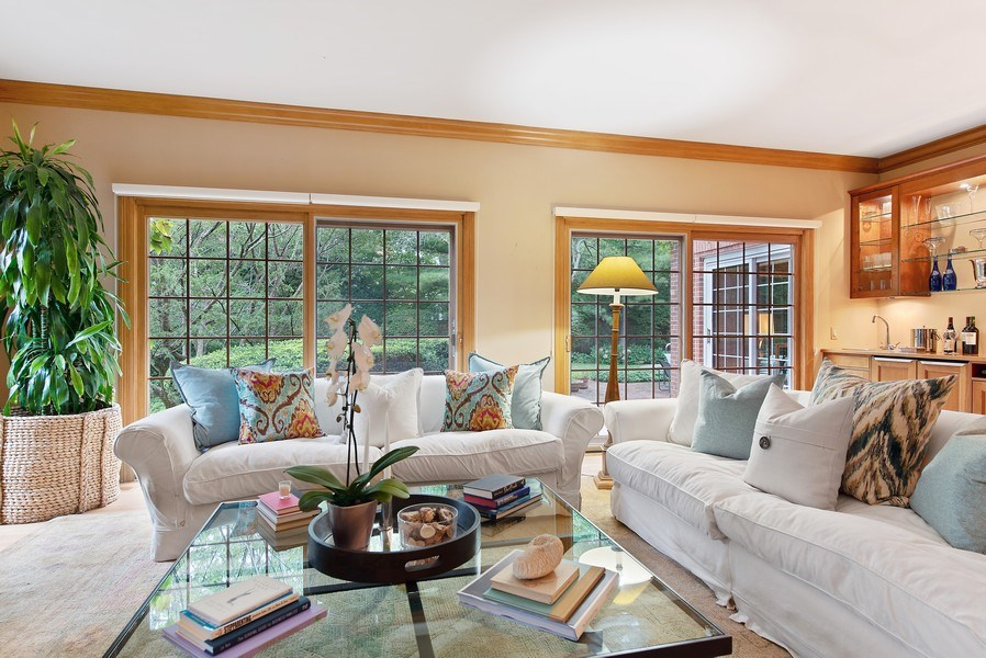 Real Estate Photography - 650 Sheridan Road, Winnetka, IL, 60093 - Living Room