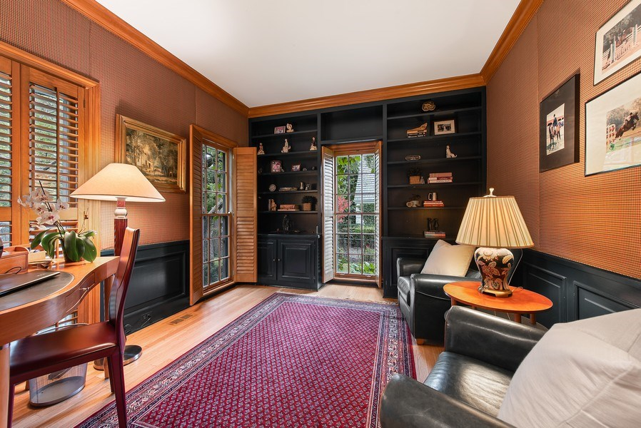 Real Estate Photography - 650 Sheridan Road, Winnetka, IL, 60093 - Office on first floor