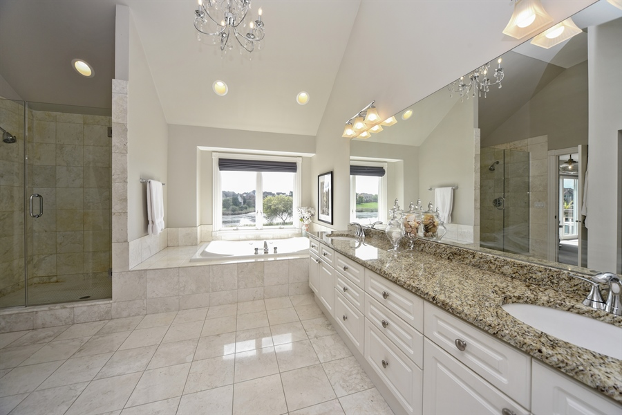 Real Estate Photography - 2 E Prairie Ct, Hawthorn Woods, IL, 60047 - Master Bathroom