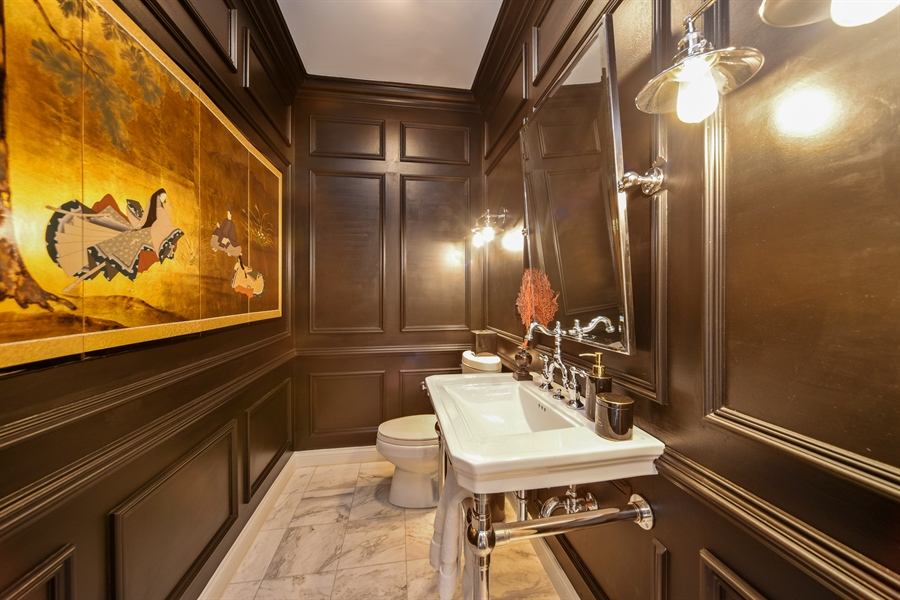Real Estate Photography - 2 E Prairie Ct, Hawthorn Woods, IL, 60047 - Powder Room