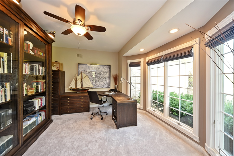 Real Estate Photography - 2 E Prairie Ct, Hawthorn Woods, IL, 60047 - Office