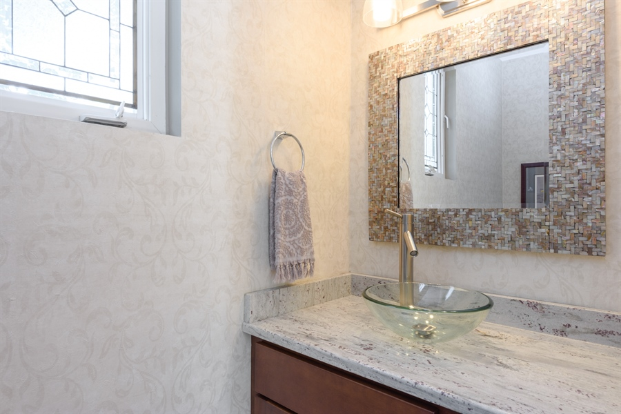 Real Estate Photography - 23858 N Lakeside DR, Lake Zurich, IL, 60047 - Main Level Powder Bath