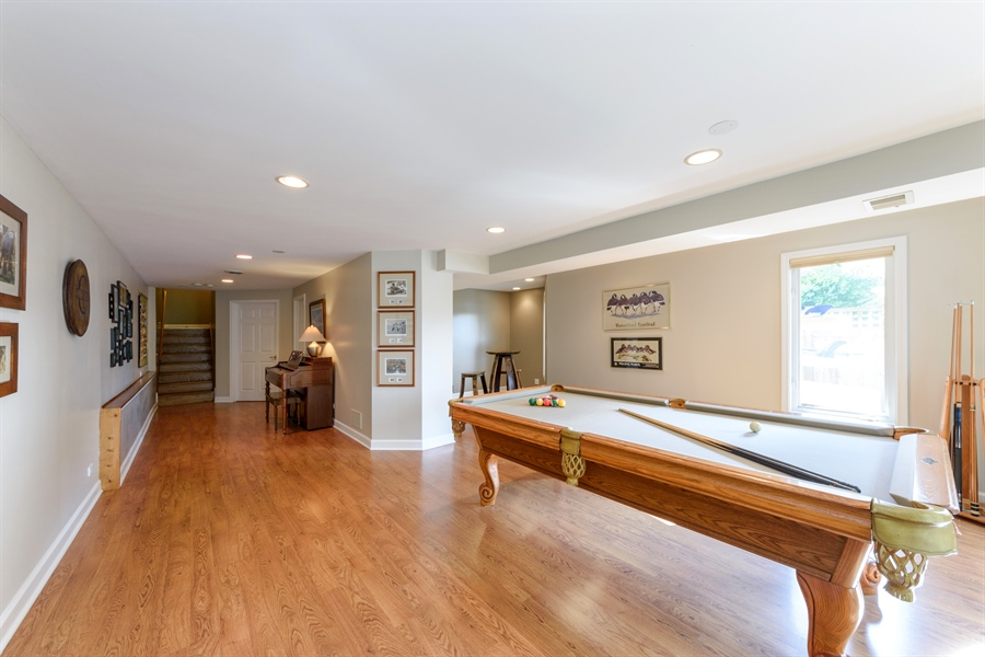 Real Estate Photography - 23858 N Lakeside DR, Lake Zurich, IL, 60047 - Family Room - Lower Level