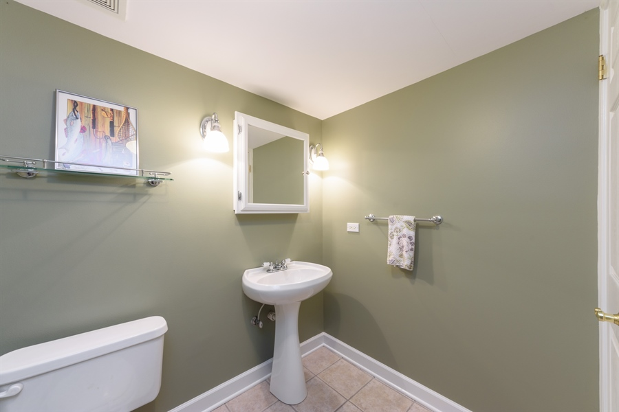 Real Estate Photography - 23858 N Lakeside DR, Lake Zurich, IL, 60047 - Lower Level Powder Bath