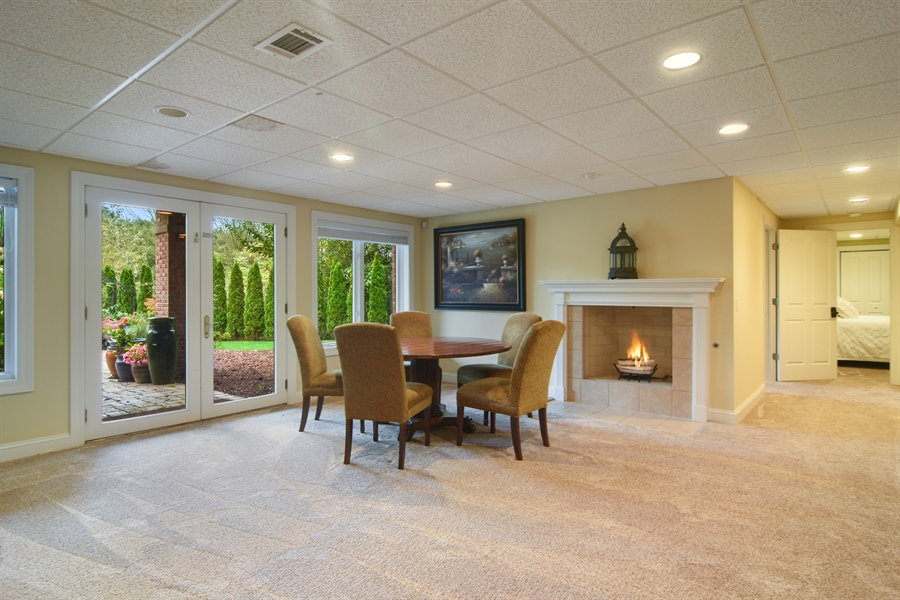 Real Estate Photography - 20817 west high ridge drive, kildeer, IL, 60047 - Lower Level Great Room With Walk Out