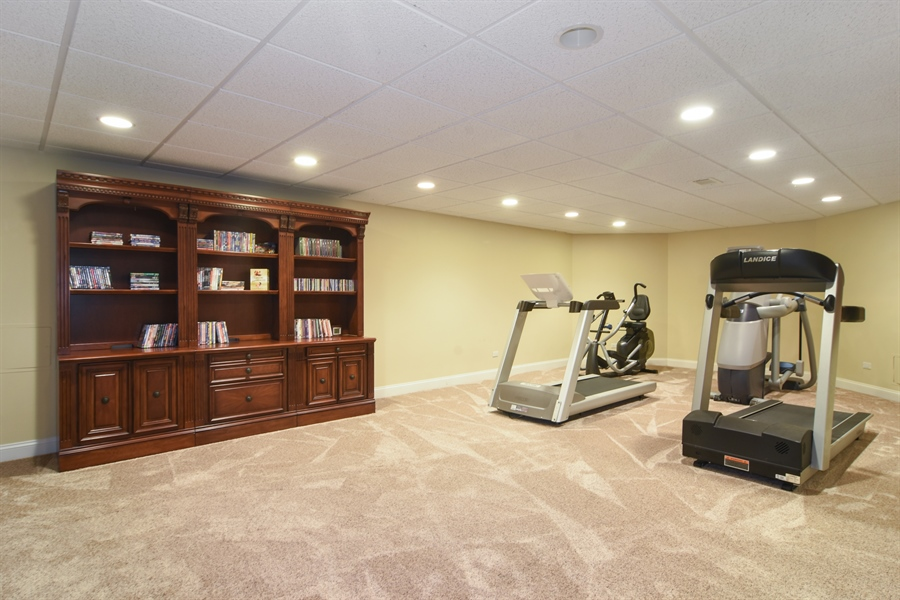 Real Estate Photography - 20817 west high ridge drive, kildeer, IL, 60047 - Exercise Area
