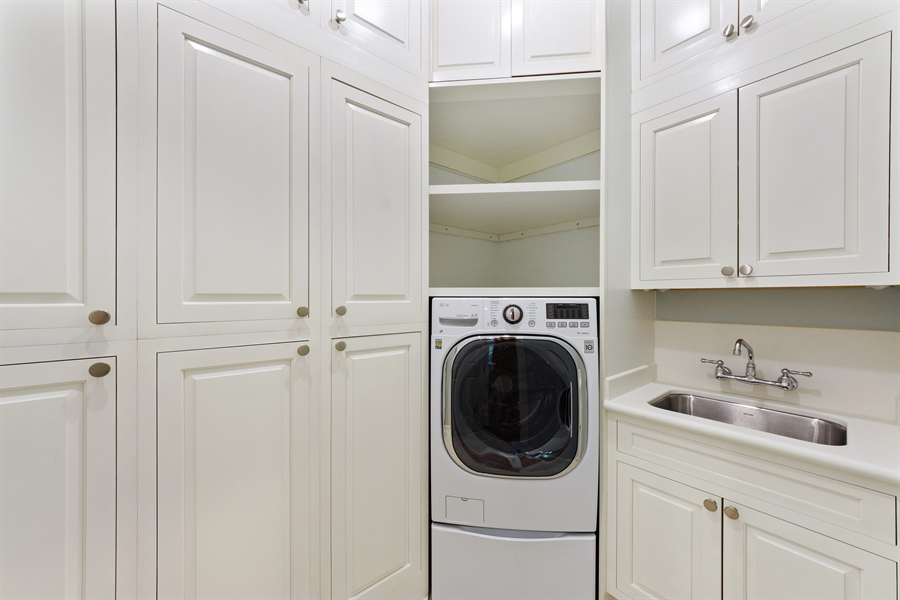 Real Estate Photography - 21227 W Andover Dr, Mundelein, IL, 60060 - Walk-in Pantry / Pool Laundry Washer/Dryer Combo 1
