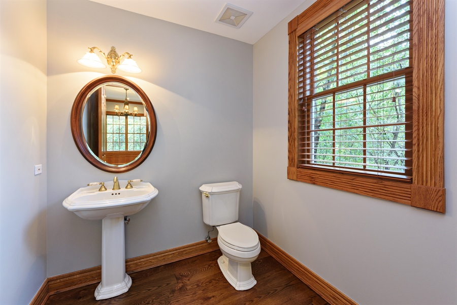 Real Estate Photography - 21227 W Andover Dr, Mundelein, IL, 60060 - Powder Room - Office