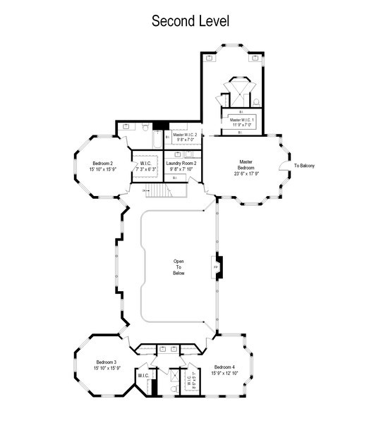 Real Estate Photography - 21227 W Andover Dr, Mundelein, IL, 60060 - Second Level Floor Plan