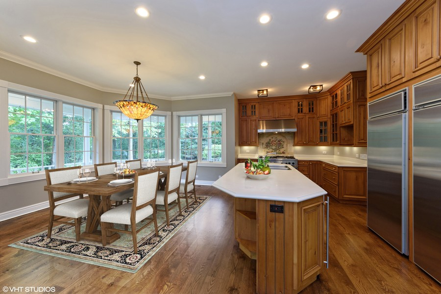 Real Estate Photography - 21227 W Andover Dr, Mundelein, IL, 60060 - Kitchen and Eat-In Area