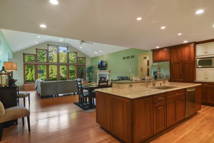 Real Estate Photography - 734 S Belmont Avenue, Arlington Heights, IL, 60005 - Family Room / Kitchen
