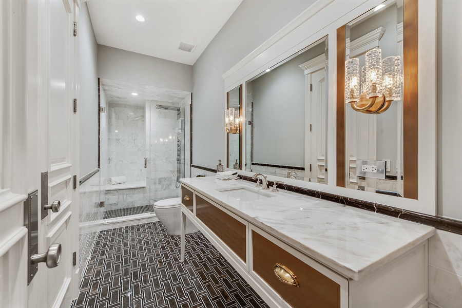 Real Estate Photography - 966 Pine Tree Ln, Winnetka, IL, 60093 - 3rd Bathroom