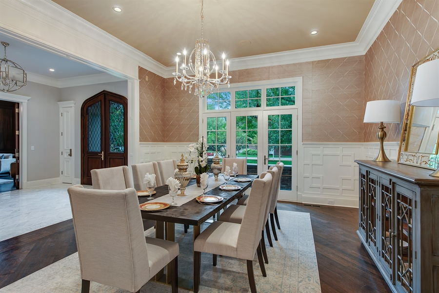 Real Estate Photography - 966 Pine Tree Ln, Winnetka, IL, 60093 - Dining Room