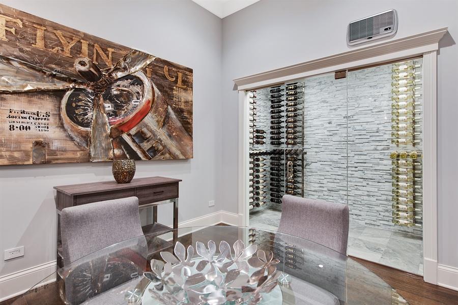 Real Estate Photography - 966 Pine Tree Ln, Winnetka, IL, 60093 - Wine Cellar