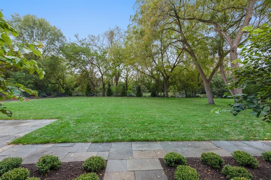 Real Estate Photography - 966 Pine Tree Ln, Winnetka, IL, 60093 - Back Yard