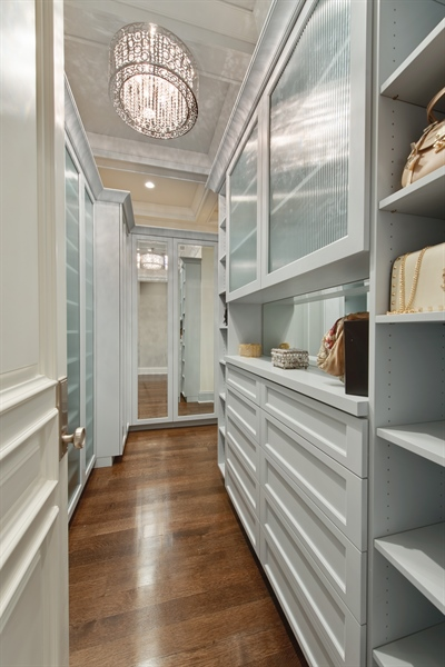 Real Estate Photography - 966 Pine Tree Ln, Winnetka, IL, 60093 - Master Bedroom Closet