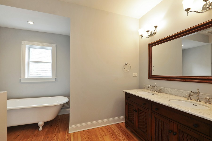 Real Estate Photography - 2538 W Medill Ave, Chicago, IL, 60647 - Master Bathroom