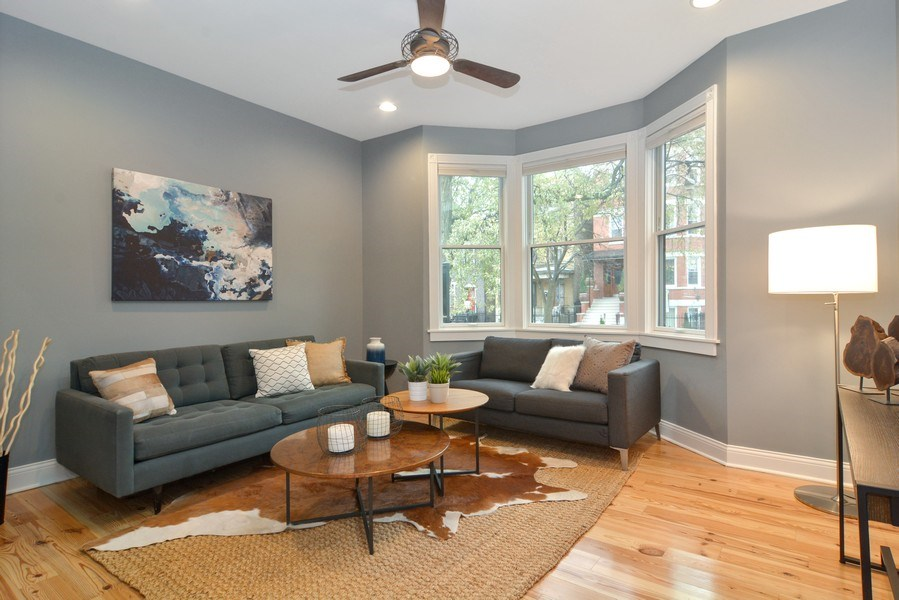 Real Estate Photography - 2538 W Medill Ave, Chicago, IL, 60647 - Living Room